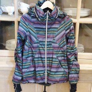 Lululemon Hustle Jacket Multi Poncho Stripe 6